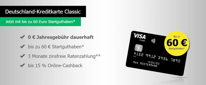 Deutschland Kreditkarte Startguthaben
