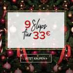 Hunkemöller Aktion: 9 Slips für nur 33€
