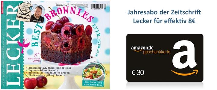 Jahresabo Kochzeitschrift Lecker