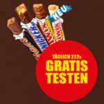 Mars, Snickers, Twix oder Twix white Sticks gratis testen