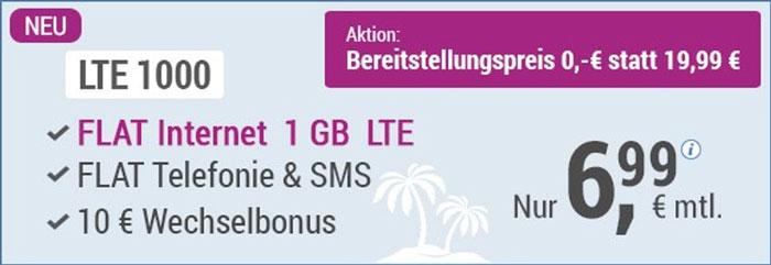 simply LTE 1000 Handytarif