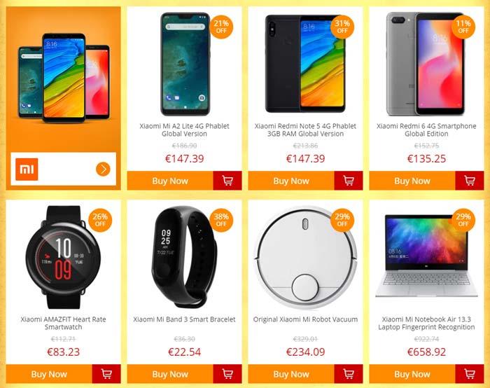 GearBest Treasure Hunt Xiaomi Produkte