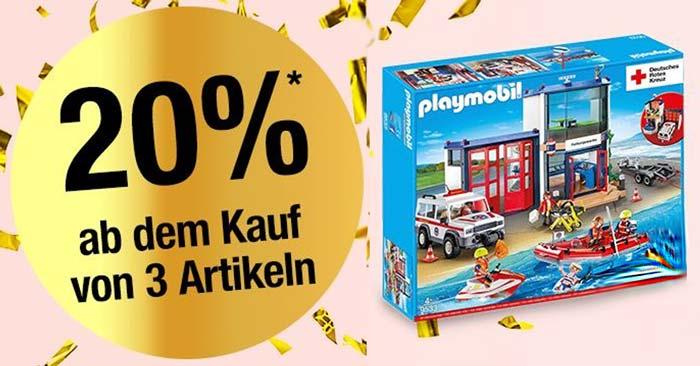 20% Rabatt auf Spielwaren & Kinderbekleidung