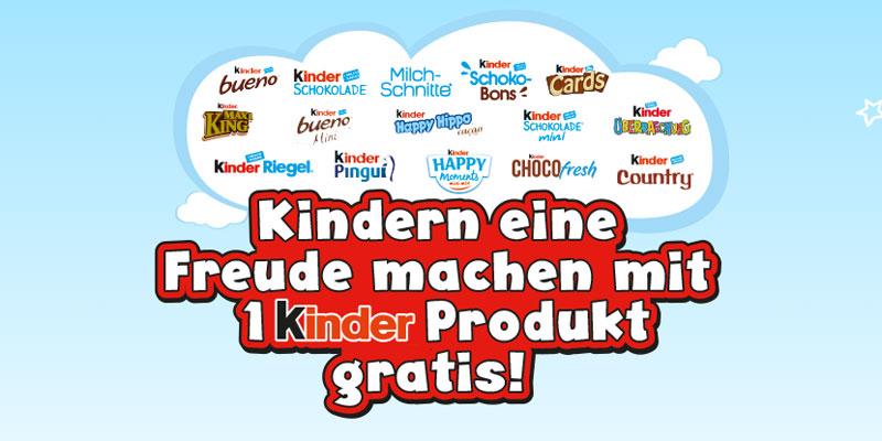 Gratis Kinder Schokolade am Weltkindertag