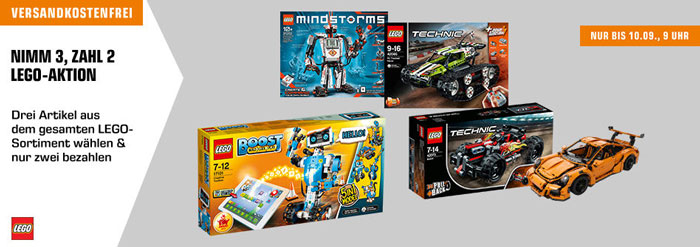 Lego 3 für 2 Aktion