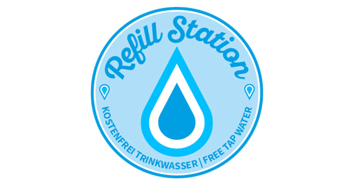 Kostenloses Trinkwasser an Refill Station