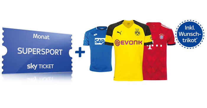 Sky Trikot Angebot: 2 Monate Supersport Ticket + Trikot