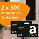 2x 30€ Amazon Gutschein für Strom- und Gas-Wechsel über Verivox