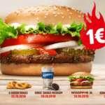 Burger King Preise auf Sparflamme – 27 Tage, 27 Angebote für 1€