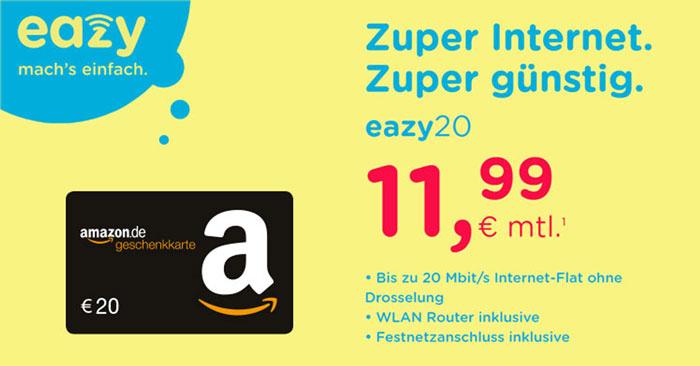 Eazy DSL-Tarif + Amazon Gutschein