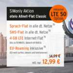 Otelo Allnet Flat Classic LTE 50 Sim-Only Handytarif (4 GB LTE) für 12,99€/Monat