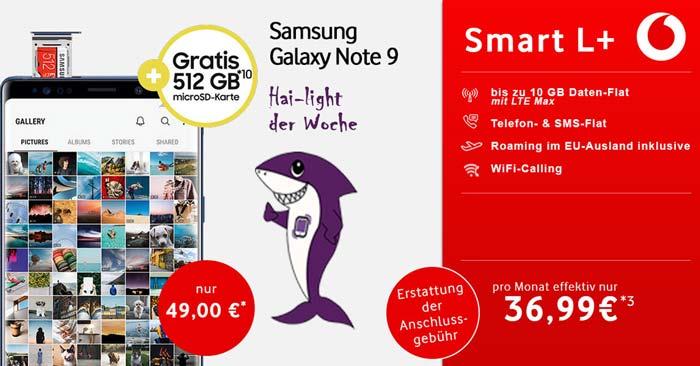 Samsung Galaxy Note 9 & Vodafone Smart L+
