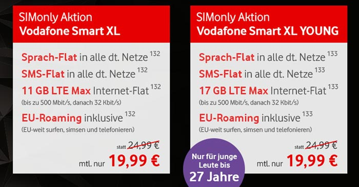 Vodafone Smart XL Sim-Only Tarif