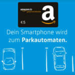 Parkgebühren per Handy mit WePark App bezahlen + 5€ Amazon Gutschein für Registrierung