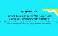 Prime Music Gutschein
