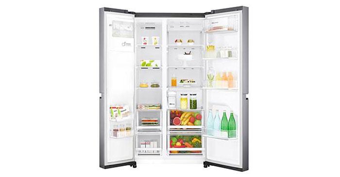 Amerikanischer Kühlschrank Lg : Lg gsl icez side by side kühlschrank edelstahl für u ac