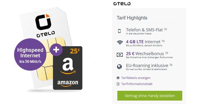 Otelo Allnet Flat Classic LTE 50