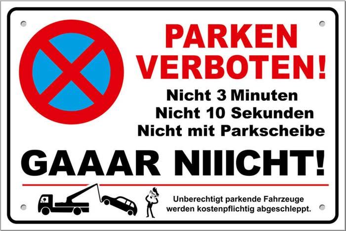 Visitenkarte für Parksünder