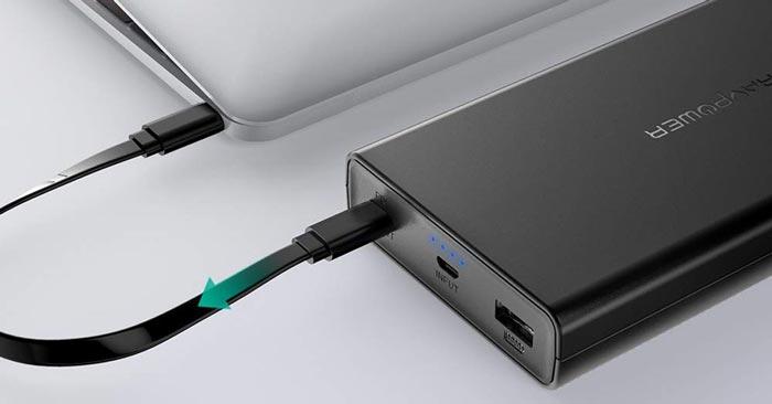 RAVPower Powerbank Laptop aufladen