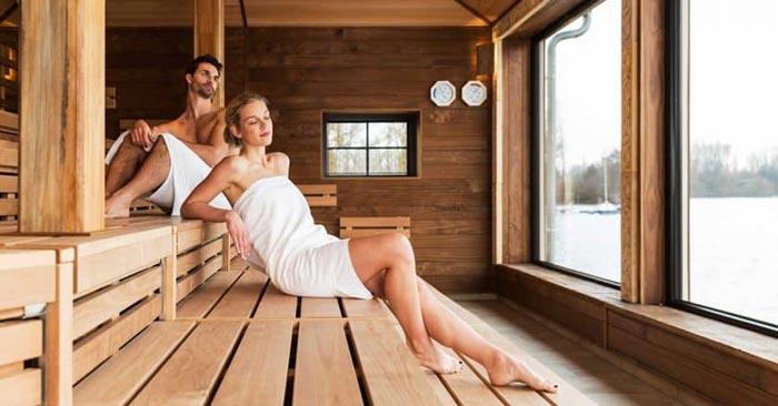Vabali Spa Sauna Seeblick