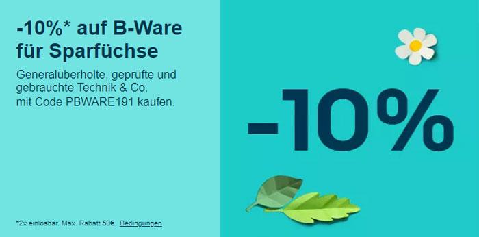 eBay Gutschein auf B-Ware