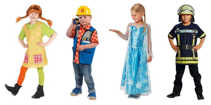 Beispiele Karnevalskostüme für Kinder