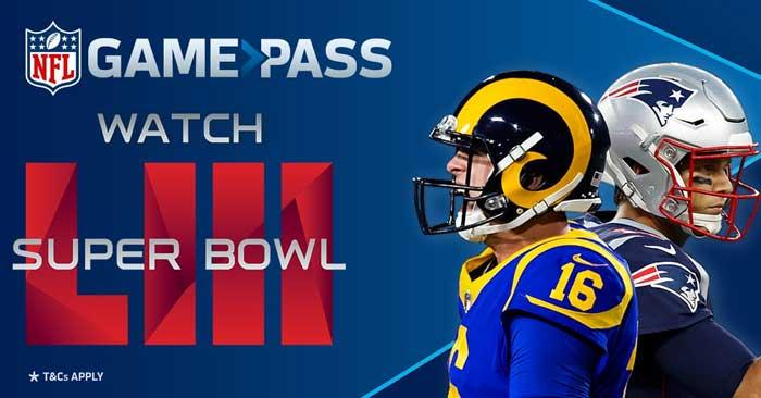 NFL Gamepass Super Bowl 2019