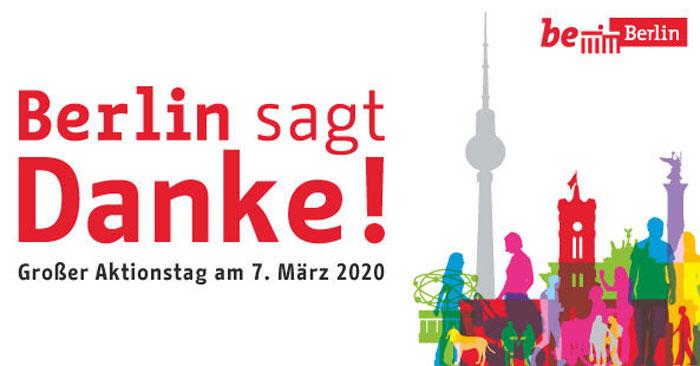 Berlin sagt Danke 2020 - Kostenloser Eintritt