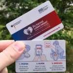 "Kostenlose Scheckkarte ""Du kannst Leben retten!"" (Kurzanleitung zur Wiederbelebung)"
