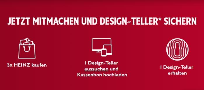 Aktionablauf Heinz Design-Teller