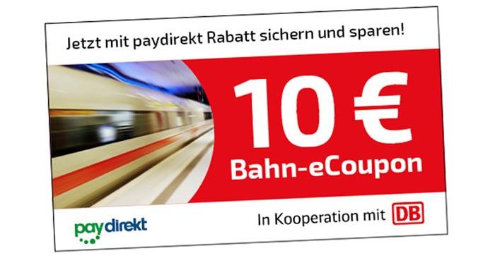 Deutsche Bahn Paydirekt Gutschein