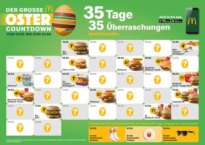 McDonald's Oster Überraschungen