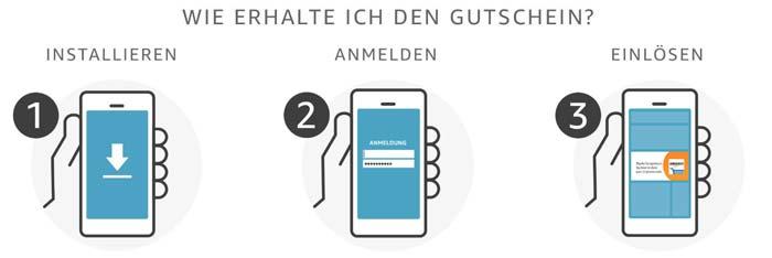 Amazon App Gutschein einlösen