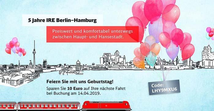IRE Berlin-Hamburg Gutschein