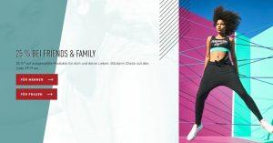 Reebok Family & Friends Aktion