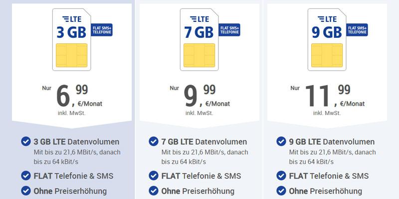 1&1 All-net & Surf Special für 6,99€