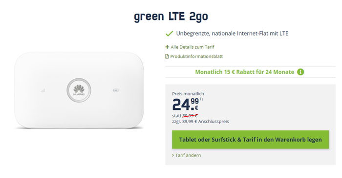 mobilcom-debitel green LTE 2go