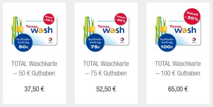Total Waschkarte