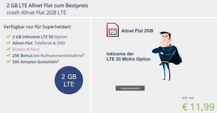 Crash Allnet Flat 2GB LTE