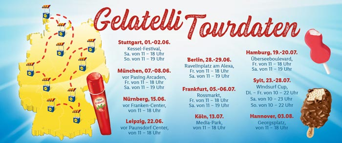 Standorte LIDL Gelatelli Tour