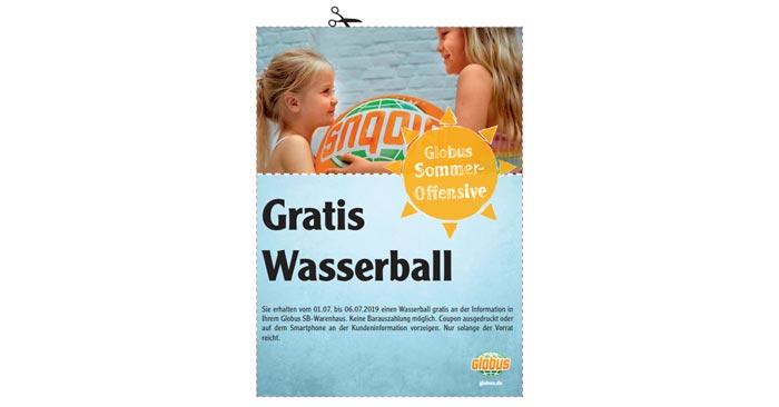 Gratis Wasserball im Globus Baumarkt