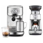 Sage Appliances SES500 The Bambino Plus Siebträgermaschine + Kaffeemühle für 299€