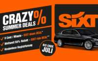 Sixt Share Crazy Summer Deals