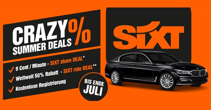 Sixt Share Crazy Summer Deals
