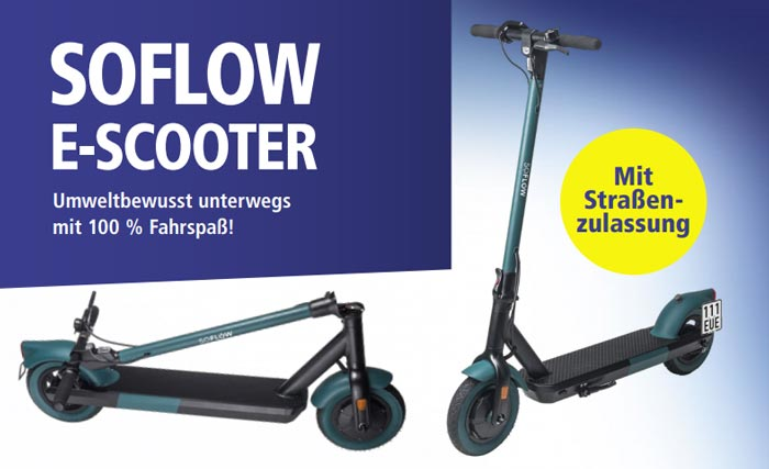 E-Scooter SoFlow SO6 klappbar