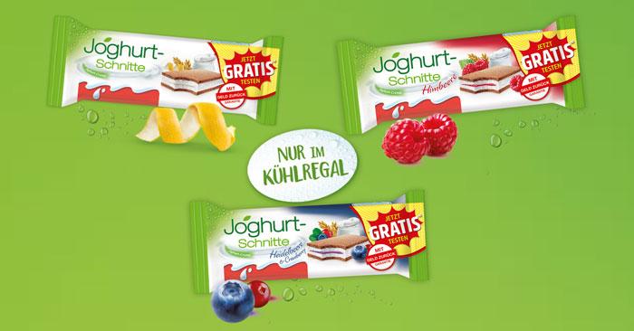 Joghurt-Schnitte gratis testen