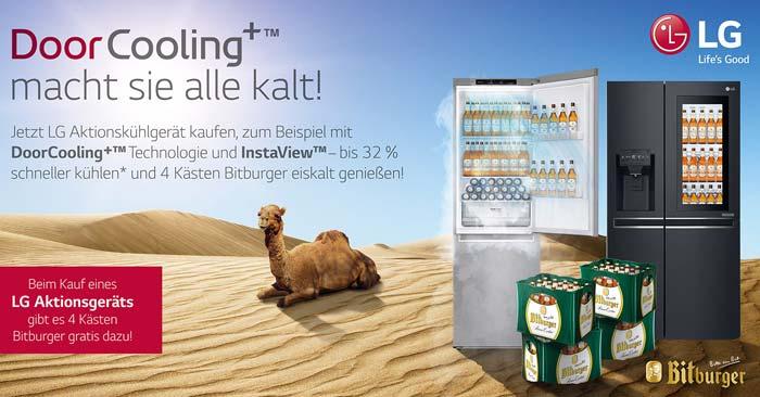 LG Kühlschrank Bitburger