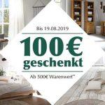 100€ Massivum Gutschein ab 500€ Bestellwert – Massivholzmöbel