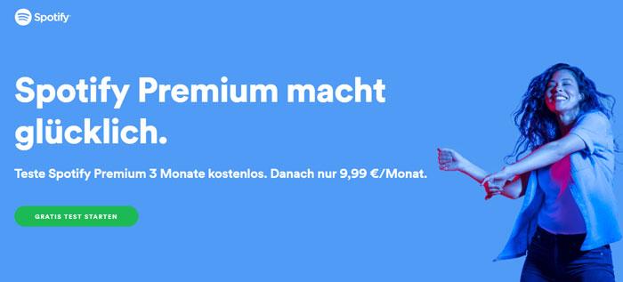 Spotify Premium 3 Monate kostenlos