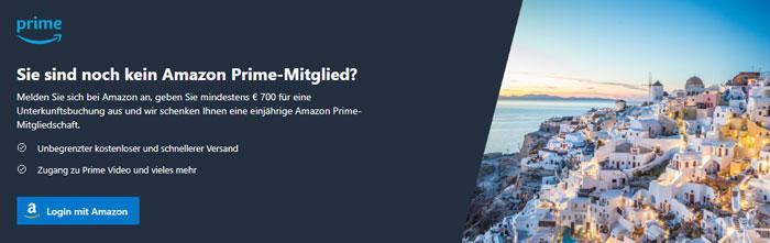 Amazon Prime Jahresmitgliedschaft Booking.com